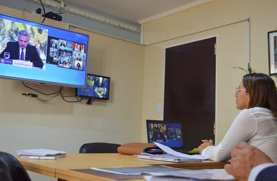 Videoconferencia, encabezada por el presidente Alberto Fernández