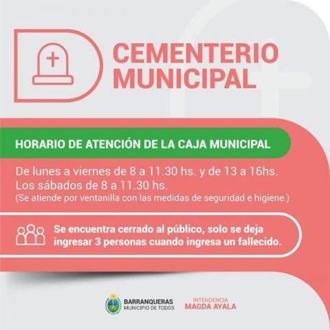Cementerio funcionamiento protocolos seguridad