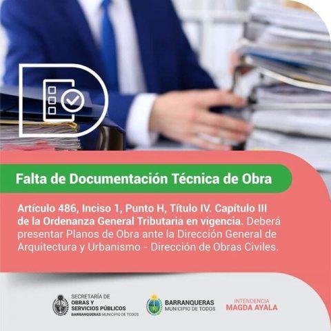 Falta documentación técnica en obra