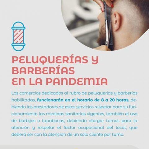 Peluquerías y Barberías en la pandemia